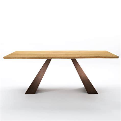 Dining Table Metal Legs Wood Top Modern Dining Table With Wooden Top And Metal Legs 100x200 Cm Flora
