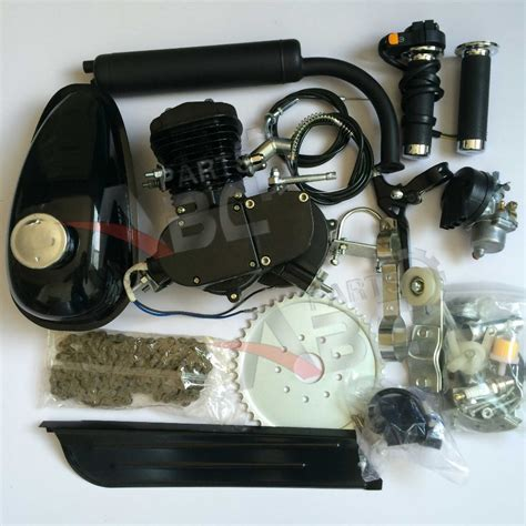 80cc Bicycle Engine Parts by Motorized Motor Bicycle 80cc Engine Kit 2 Stroke Black