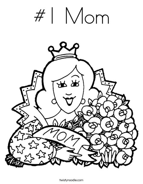 1 mom coloring page twisty noodle