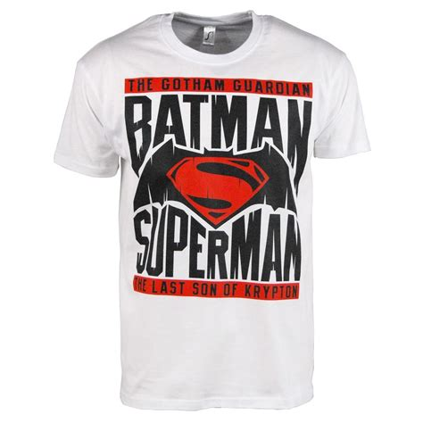 Tshirt Batman White men s batman v superman t shirt white buy batman