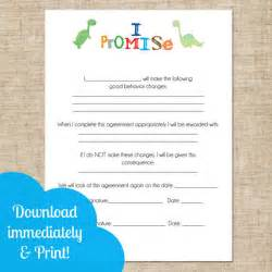 Parent Child Behavior Contract Template by Printable And Parent Contract Behavioral Chart