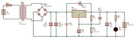 schema alimentatore 12v electronique r 233 alisations alimentation simple 002