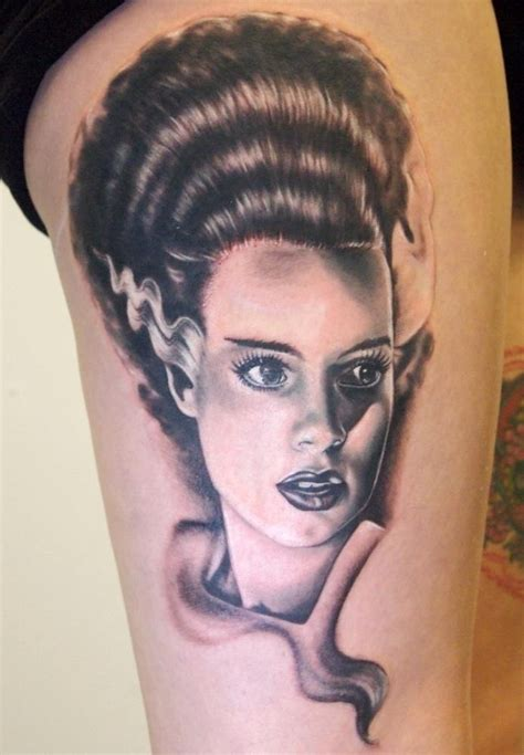 bride of frankenstein tattoo 11 beautiful of frankenstein tattoos