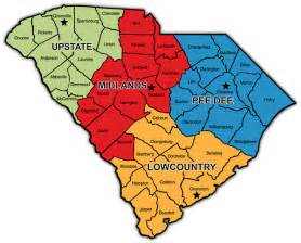 carolina regions map dhec ea regional offices