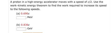 Proton Energy Scholarship A Proton In A High Energy Accelerator With A