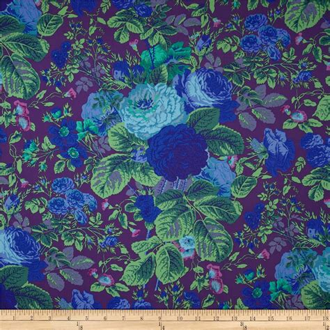 kaffe fassett home decor fabric kaffe fassett collective grandi floral purple discount