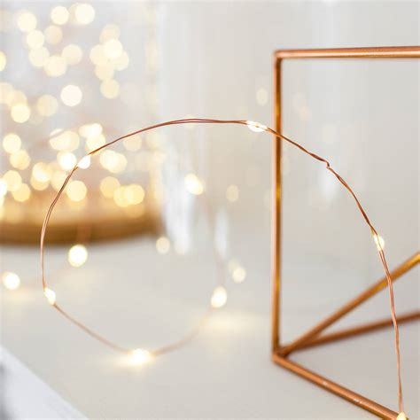 how are fairy lights wired 20 copper wire micro lights by lights4fun notonthehighstreet