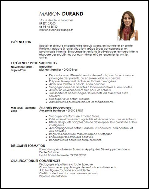 Exemple De Lettre Baby Sitting Exemple Cv Baby Sitting Cv Anonyme