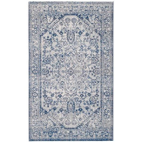 artisan area rugs safavieh artisan silver blue 3 ft x 5 ft area rug atn318c 3 the home depot
