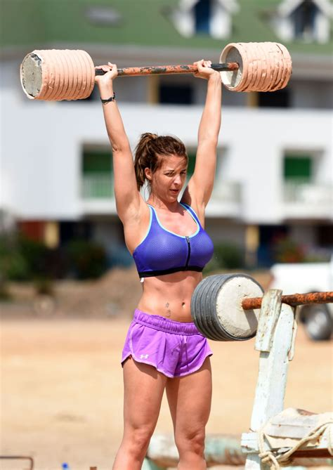 gemma atkinson working out on a beach in cape verde celebzz celebzz