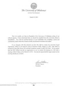 College President Letter To Students Rice Ringleader In Oklahoma Frat