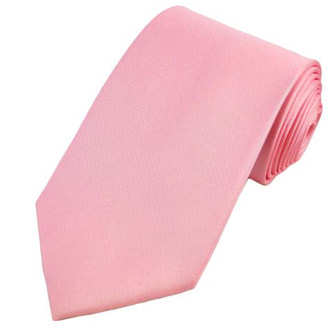 plain light pink silk tie from ties planet uk