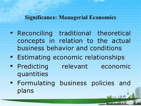 Importance Of Economics In Mba by Managerial Economics Ppt Baba Mba 2009