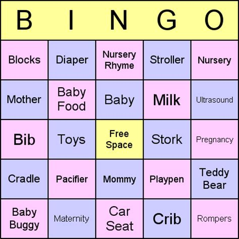 create a bingo template blank baby shower bingo images pictures photos bloguez