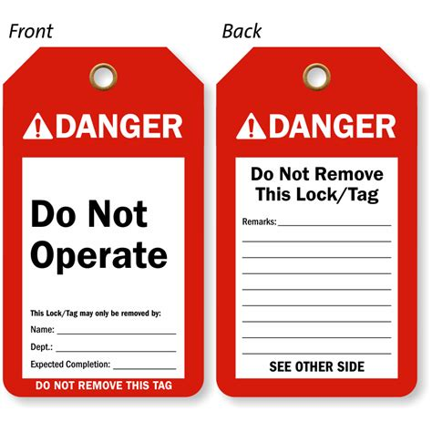 printable danger tags do not operate tag ansi danger tags high durability
