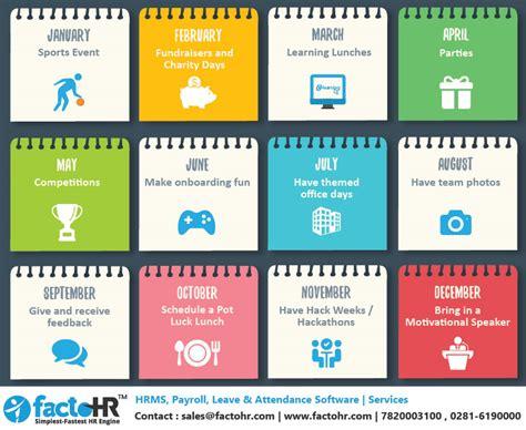 hr calendar template prepare employee engagement calendar in beginning of year