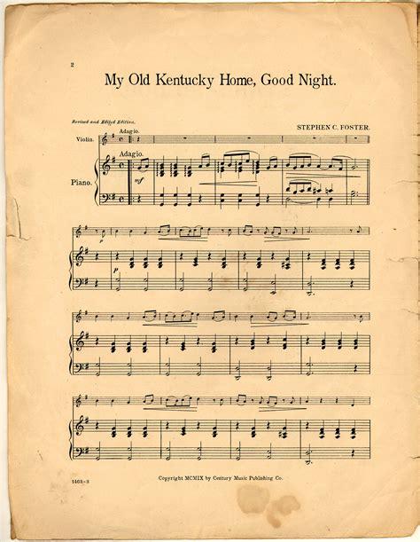 my kentucky home historic american sheet