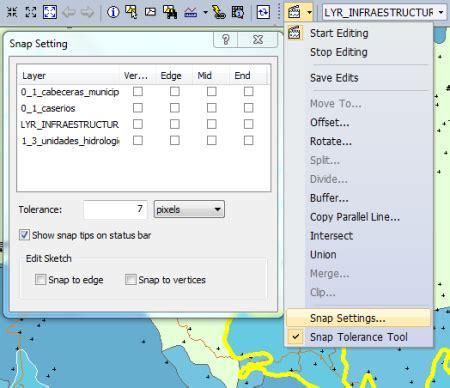 arcgis layout snap supergis desktop algunas comparaciones geofumadas