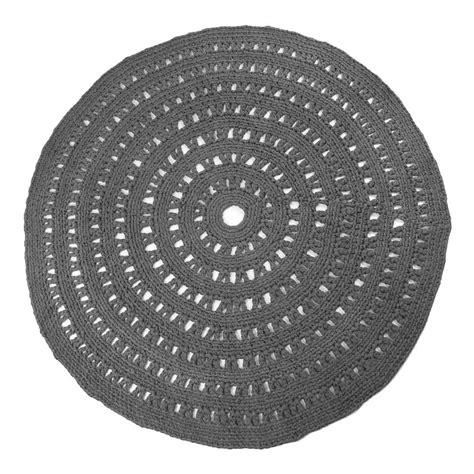 tappeto rotondo grigio tappeto rotondo crochet grigio antracite naco design bambino