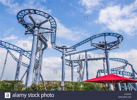 paultons park cobra roller coaster ride at paultons park southton