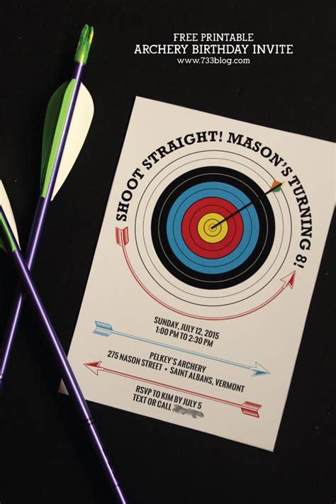 Printable Invitations Target   archery birthday party archery themed birthday parties