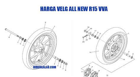 Rear Fender R15 Vva Vnd harga velg depan belakang arm dan usd yamaha all new r15 vva