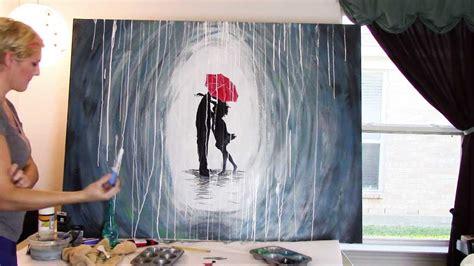 paint  rainy day scene  acrylics youtube
