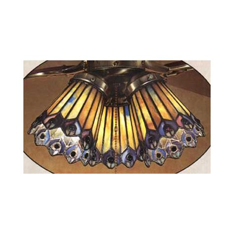 Peacock Ceiling Light by Meyda 27474 Jeweled Peacock Fanlite Shade