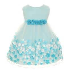 Kids dream baby girls aqua taffeta flowers sleeveless easter dress 3