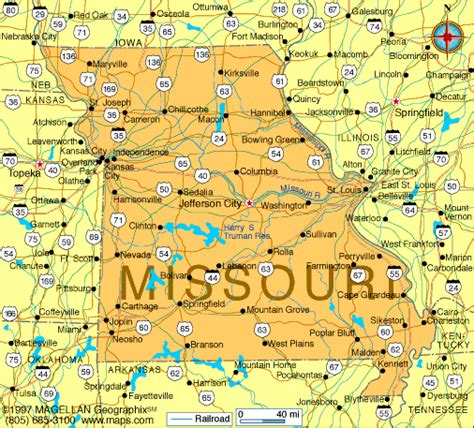 map of the united states st louis missouri map and missouri satellite images