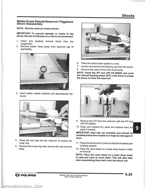 2007 2013 polaris iq snowmobile service manual