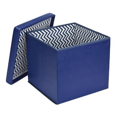 Patterned Storage Ottoman Folding Storage Ottoman With Patterned Interior