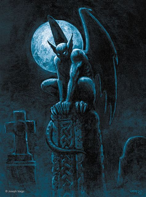 gargoyles gothic fantasy artwork by joseph vargo