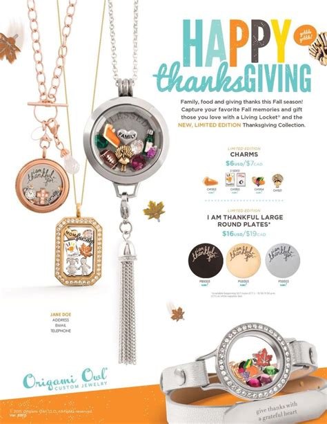 New Origami Owl - new thanksgiving collection from origami owl