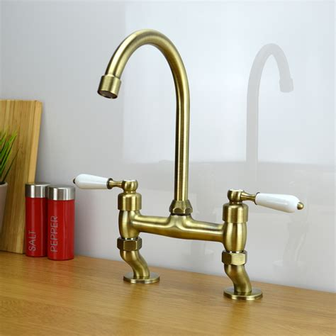 bridge taps kitchen sinks classic traditional white lever bridge taps kitchen sink