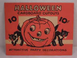 Vintage Halloween Paper Decorations Set Of 4 Vintage Paper Halloween Decorations With Original