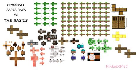 paper mine craft minecraft paper pack aka mpp 1 by pinkiexpie1 on deviantart