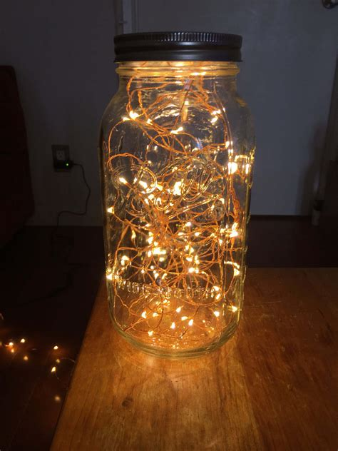 lights jar in copper wire light jar by masonkreationsetsy