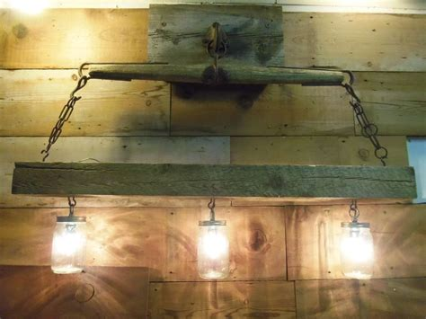 reclaimed wood light fixture reclaimed wood beam jar chandelier with antique
