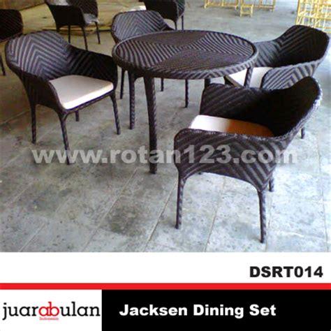 Set Meja Makan Rotan harga jual jacksen dining set meja makan rotan sintetis model gambar