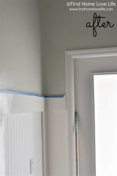 Greige bathroom paint first home love life