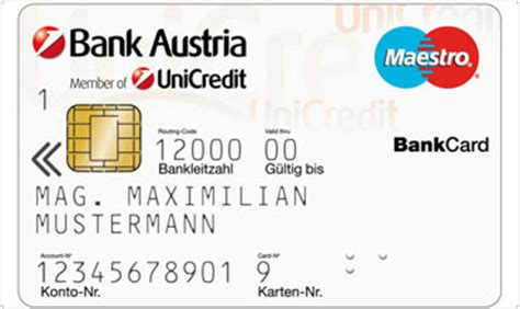 blz bank austria bankcard for with visual impairment bank austria