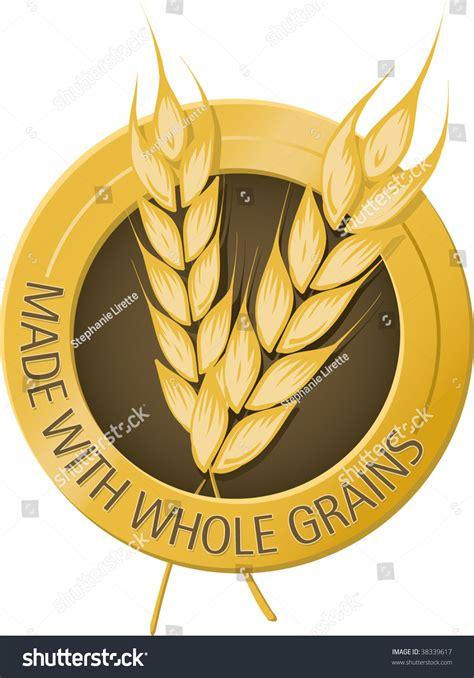 made with whole grains made with whole grains seal stock vector illustration
