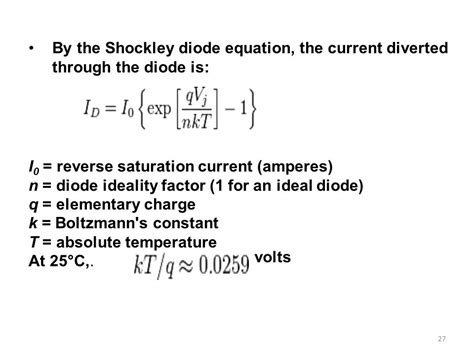 current equation for diode green power generation ppt