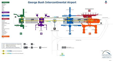 texas airport terminal map houston tx iah texas sky