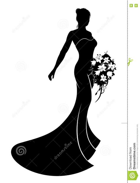 Wedding Vector Silhouette by Dress Silhouettes Wedding Dress Silhouette Clip