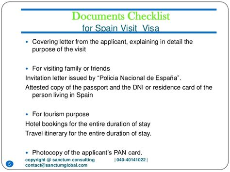Letter For Visa Purpose Spain Visit Visa Sanctum Consulting