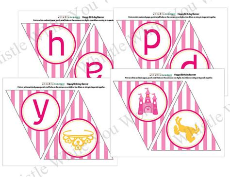 printable birthday princess banner 5 best images of princess banner printable template