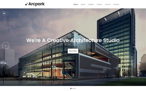 Arcpark Architecture Html5 Responsive Website Template Architecture Website Templates
