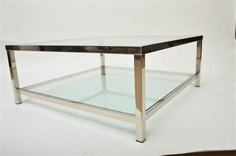 Huge Square Coffee Table With X Design Iron Base Glass Top Modern Coffee Square Glass Cocktail